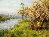 Free Artistic Wallpaper : Louis Aston Knight - Country Women After Fishing