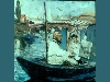 Free Artistic Wallpaper : Manet - Monet Painting Boat