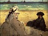 Free Artistic Wallpaper : Manet - On the Beach