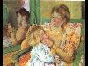 Free Artistic Wallpaper : Mary Cassatt - Mother Combing Her Child's Hair