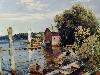 Free Artistic Wallpaper : Mathias - Summer on the Kalamazoo River Saugatuck