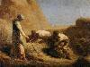 Free Artistic Wallpaper : Millet - Trussing Hay
