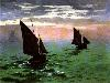 Free Artistic Wallpaper : Monet - Fishboats