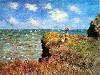 Free Artistic Wallpaper : Monet - La Promenade Sur La Falaise