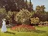 Free Artistic Wallpaper : Monet - Woman in the Garden