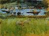 Free Artistic Wallpaper : Morisot - Harbor in the Port