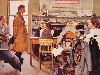 Free Artistic Wallpaper : Norman Rockwell - Rationing Office