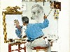 Free Artistic Wallpaper : Norman Rockwell - Self-Portrait