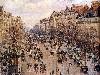 Free Artistic Wallpaper : Pissarro - Boulevard Montmartre