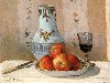 Free Artistic Wallpaper : Pissarro - Still Life With Apples and Pitcher