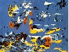 Free Artistic Wallpaper : Pollock - Blue (Moby Dick)