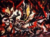 Free Artistic Wallpaper : Pollock - The Flame