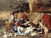 Free Artistic Wallpaper : Poussin - Lamentation over the Body of Christ