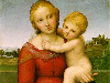 Free Artistic Wallpaper : Raphael - The Cowper Madonna