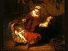 Free Artistic Wallpaper : Rembrandt - Heiligen Familie
