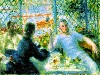 Free Artistic Wallpaper : Renoir - The Canoeist's Luncheon