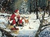 Free Artistic Wallpaper : Santa Claus and Friends