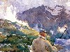 Free Artistic Wallpaper : Sargent - Artist in Simplon