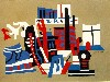 Free Artistic Wallpaper : Stuart Davis - New York Waterfront