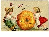 Free Artistic Wallpaper : Thanksgiving - Vintage Kids
