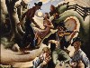Free Artistic Wallpaper : Thomas Hart Benton - The Ballad of the Jealous Lover of Lone Green Valley