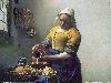 Free Artistic Wallpaper : Vermeer - The Milkmaid