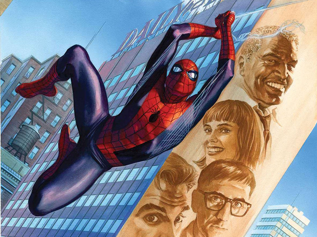 Free Comics Wallpaper: Spiderman and Fantastic Four