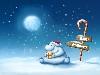 Free Cartoons Wallpaper : Bear - Happy Holidays