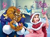 Free Cartoons Wallpaper : Beauty and the Beast - Christmas