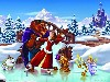 Free Cartoons Wallpaper : The Beauty and the Beast - Xmas