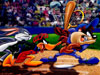 Free Cartoons Wallpaper : Bugs Bunny - Baseball