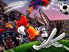 Free Cartoons Wallpaper : Bugs Bunny - Soccer