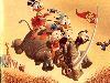 Free Cartoons Wallpaper : Carl Barks - Rhino and Ducks
