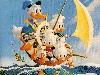 Free Cartoons Wallpaper : Carl Barks - Sailing Ducks