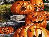 Free Cartoons Wallpaper : Pumpkins - Halloween