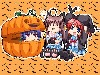 Free Cartoons Wallpaper : Chibi Halloween