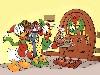 Free Cartoons Wallpaper : Christmas - Donald Duck and Daisy