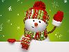 Free Cartoons Wallpaper : Christmas - Snowman