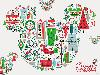 Free Cartoons Wallpaper : Christmas - Mickey