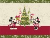 Free Cartoons Wallpaper : Classic Mickey - Christmas