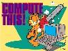 Free Cartoons Wallpaper : Garfield - Compute This