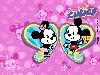 Free Cartoons Wallpaper : Disney Cuties - Mickey and Minnie