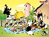 Free Cartoons Wallpaper : Donald Duck - Picnic at Farm