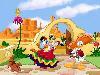 Free Cartoons Wallpaper : Donald Duck and Daisy - Mariachi