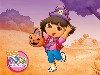Free Cartoons Wallpaper : Dora - Halloween