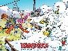 Free Cartoons Wallpaper : Duckburg - Winter
