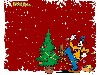 Free Cartoons Wallpaper : Goofy - Christmas Tree