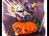 Free Cartoons Wallpaper : Halloween - Pumpkin Witch