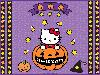 Free Cartoons Wallpaper : Hello Kitty - Halloween