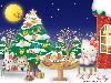Free Cartoons Wallpaper : Hello Kitty - Christmas